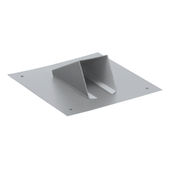 Metal sheet snow catcher, light grey colour