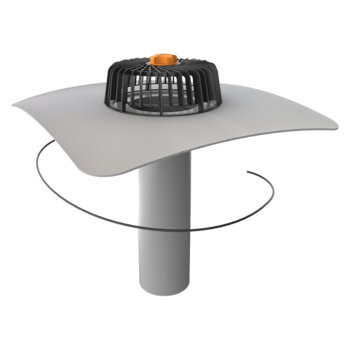 Extended single-wall heated roof outlets with integrated PVC sleeve
