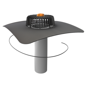 Extended single-wall heated roof outlets with integrated custom made sleeve