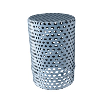 Perforated protective basket