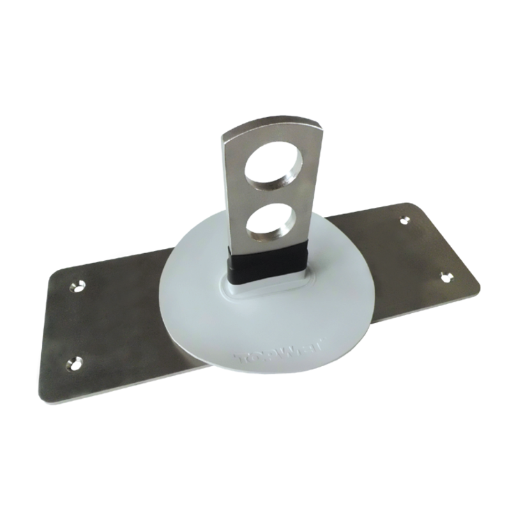 Holder for tubular snow trap with an integrated sleeve of foil based on mPVC