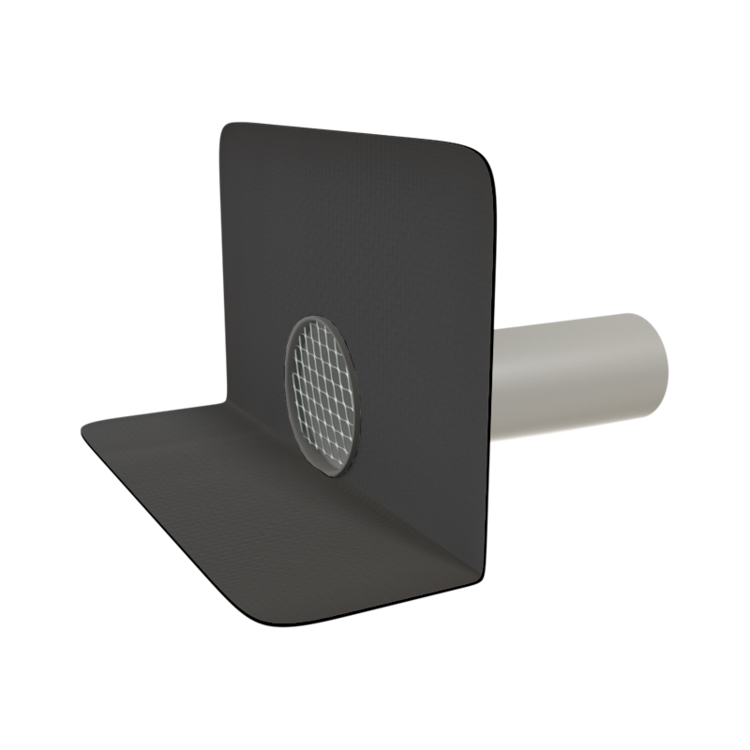 Round through wall outlets with integrated custom made sleeve
